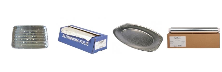 Alufolie - Grillschalen - Klarsichtfolie