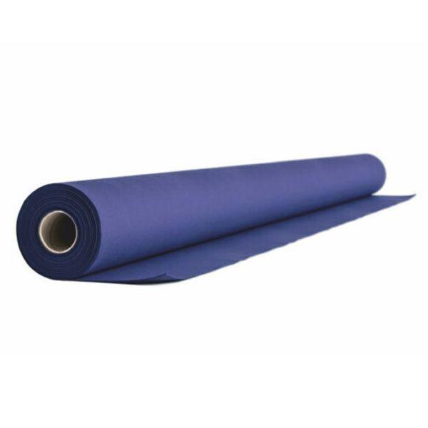(0,92 €/m) Airlaid - Vlies Tischtdecke Rolle 120cm x 24m - Blau