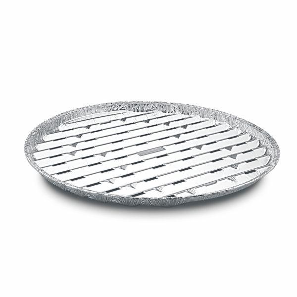 Alu Grillpfanne - Grillschale - Ø 34 cm - Rund - 3 Stück