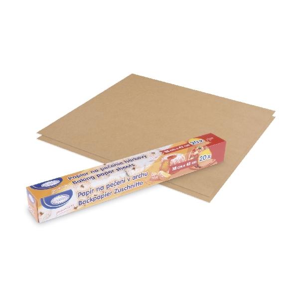Backpapier - Dauerbackpapier braun - 380 x 420 mm - 20 Stück