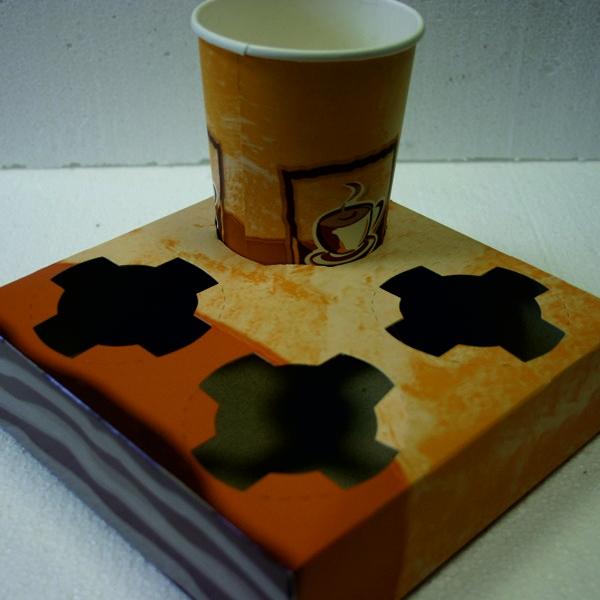 Becherhalter für 4 Kaffeebecher - 50 Stück