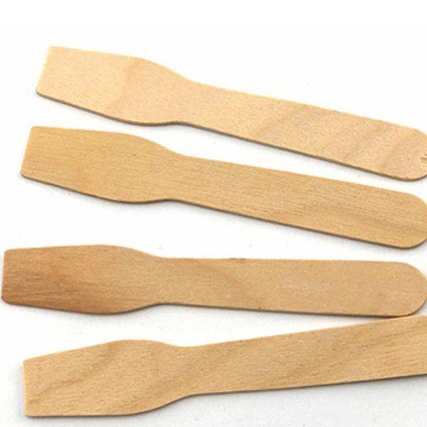 Bio Eisspaten - Eislöffel aus Holz - 9,6cm - 100 Stück