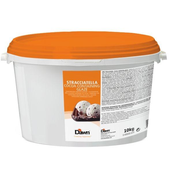 Dawn Stracciatella Fettglasur - Kokosfett - Eisüberzug - 10 Kg