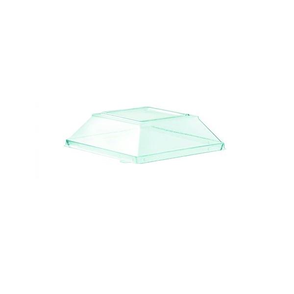 Deckel für Fingerfood Schale Coppa Deco 200ml klar und schwarz