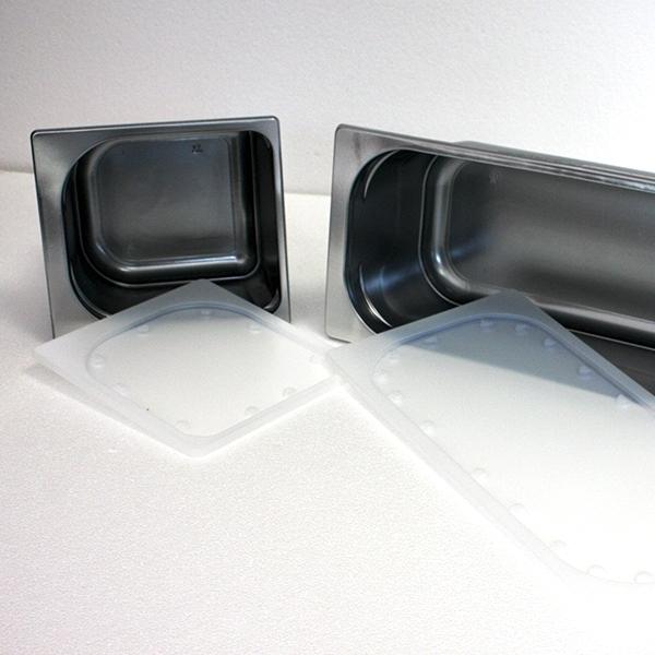 Deckel für Einweg Silber Eisschale - 2,5 Liter - 600 Stück