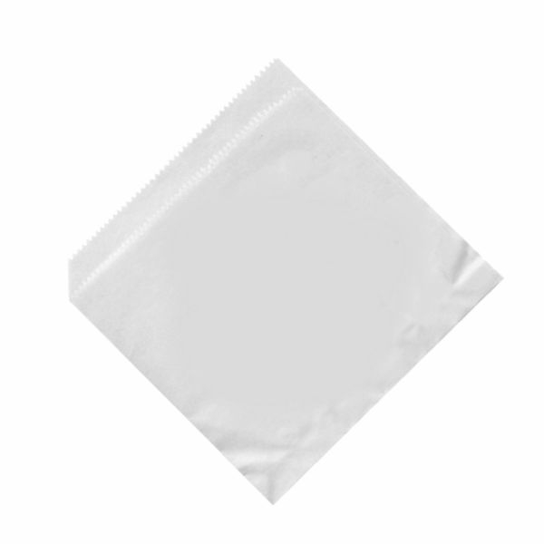 Snacktaschen - Snackbeutel - Hamburgerbeutel - Dönertüten - Weiß - 16x16cm 500 Stück