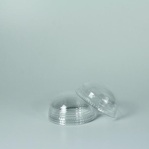 Dome Deckel für PET Clear Cup - 95mm - Ohne Loch - 50 Stück