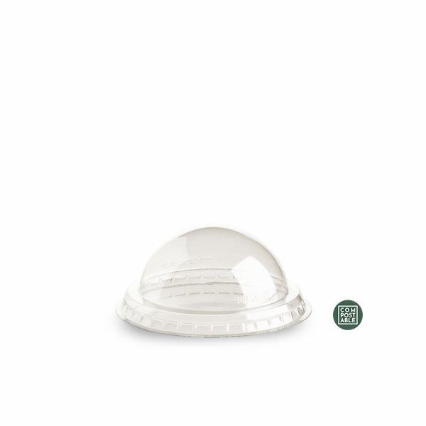 Dome Deckel für Foglia Becher - 80cc - 50 Stück