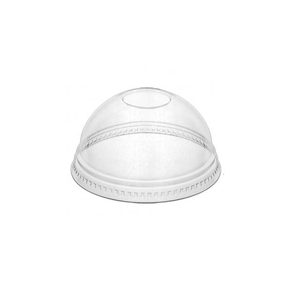 Dome Deckel für Clear Cup - d=95mm - Mit Loch - 800 Stück