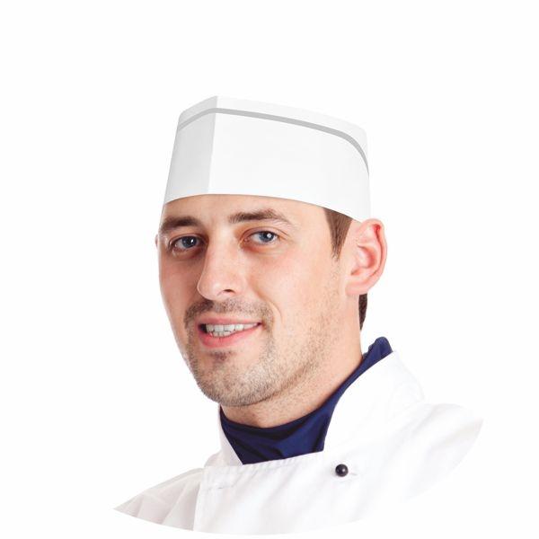 Einweg Kochmützen - Bäckermützen - weiß - 25 Stück