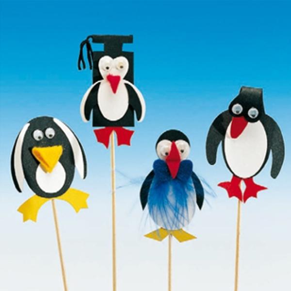 50 Deko-Aufstecker - Pinguine
