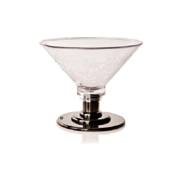 Eisglas Kunststoff - Coppa Eis 600ml - Fuß schwarz