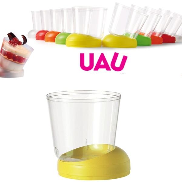 """40 Fingerfood Schalen """"UAU"""" Gelb - 160 ml"""