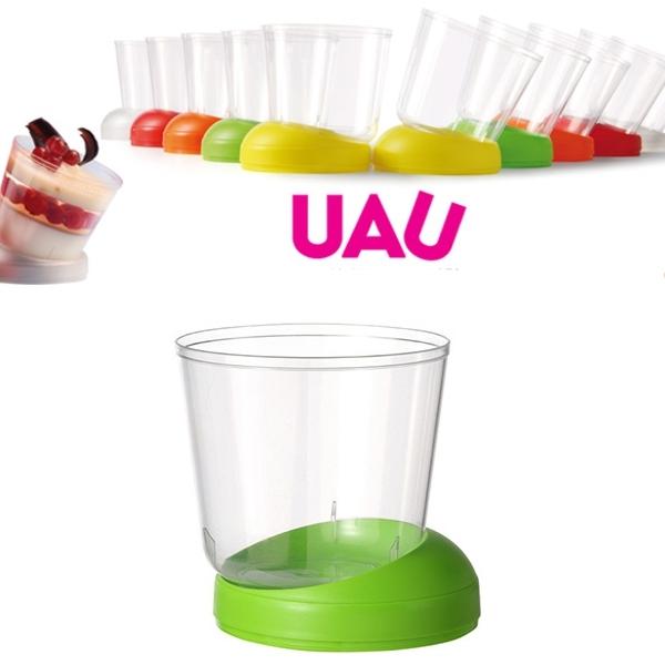 """40 Fingerfood Schalen """"UAU"""" Grün - 160 ml"""