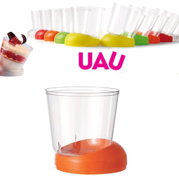 """40 Fingerfood Schalen """"UAU"""" Orange - 160 ml"""