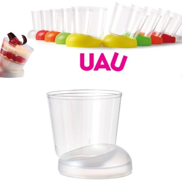 """40 Fingerfood Schalen """"UAU"""" Satiniert - 160 ml"""