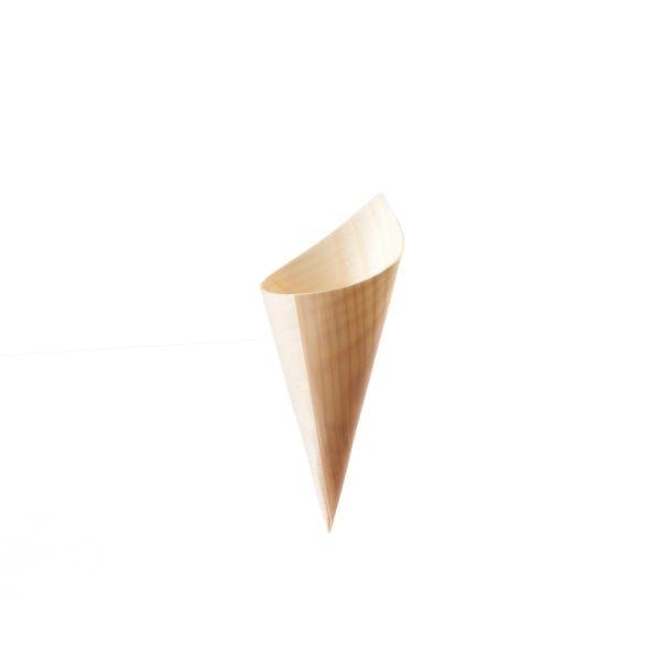 Bio Pommes Spitztüte - Pinien Holz - 125mm x 45mm