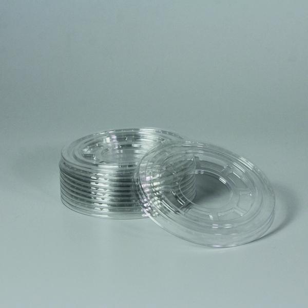 Flachdeckel für PET Clear Cup - d=95mm - Ohne Loch - 50 Stück