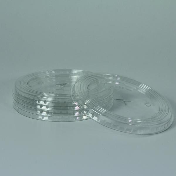 Flach Deckel für PET Clear Cup - 95mm - Mit Kreuzschlitz - 50 Stück