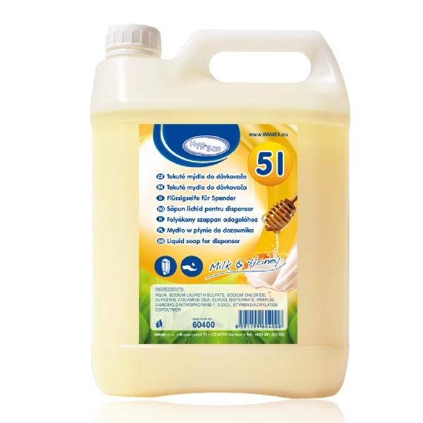 (1,19 €/L) Flüssigseife für Spender - Milch mit Honig - 5 Liter