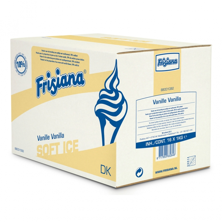 Frisiana Vanille Softeis 10% Fett 16x1 Kg