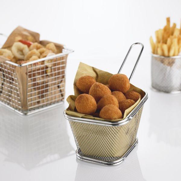 Edelstahl Mini Frittier Korb - 10,5 x 8,5 x 6,5cm