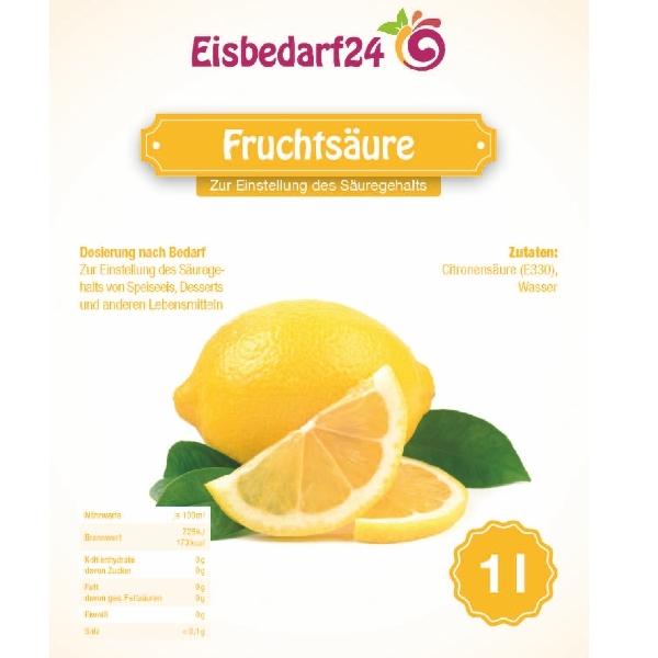 (5,35 € / Kg) Fruchtsäure - Zitronensäure flüssig -  1,0 Liter