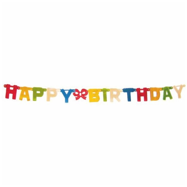 Papier - Girlande Happy Birthday - 1,5m - d=11cm