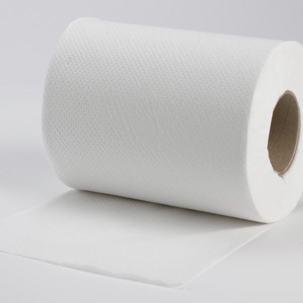 Handtuchpapierrolle 19cm x 100m - 2-lagig - hochweiß - 6 Rollen