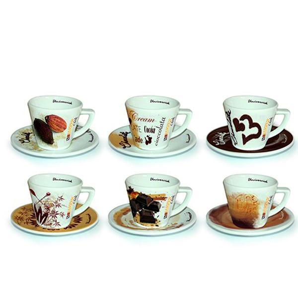 Heiße Schokolade Univerciok - Design Tassen 6er Pack