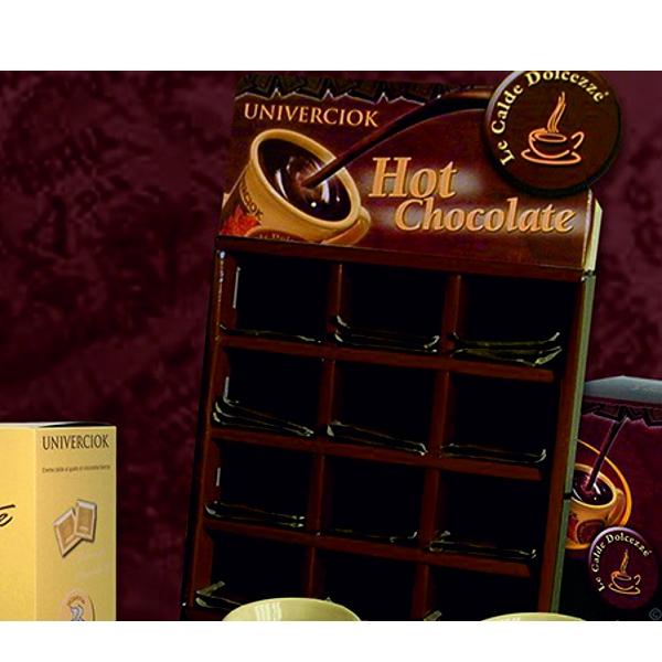 Heiße Schokolade Univerciok - Thekendisplay