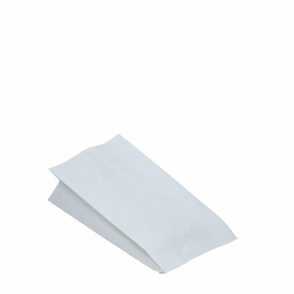 Hähnchenbeutel - Papierbeutel 1/2 - fettdicht - weiß - 10,5 x 5,5 x 24cm - 100 Stück