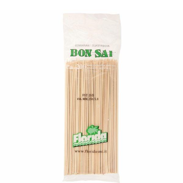Bambus Schaschlik - Spieß - 3mm x 25cm - 200 Stück