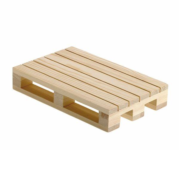 Holzpalette für Lebensmittel Präsentation - 20x13x3,5cm