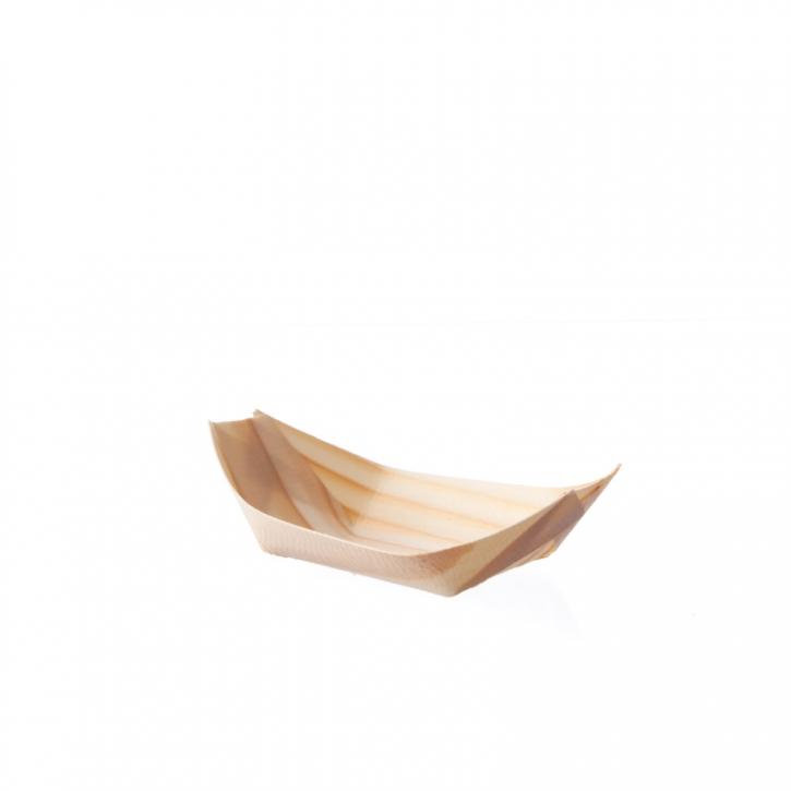 Bio Pinien Holz Schiffchen - Holzschalen - 110mm x 70mm