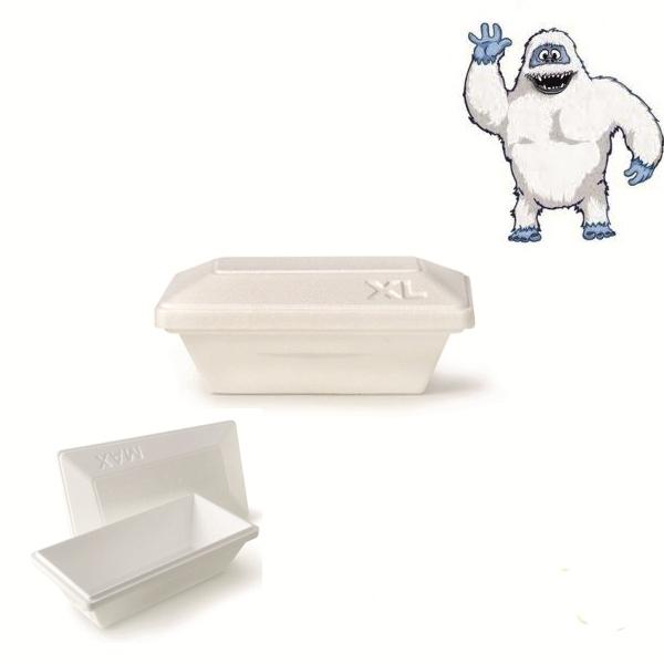 Iso Eis Styropor Behälter 1000ml - Yeti - Größe XL - 50 Stück