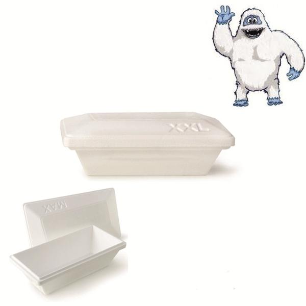 Iso Eis Styropor Behälter 1500ml - Yeti - Größe XXL - 50 Stück
