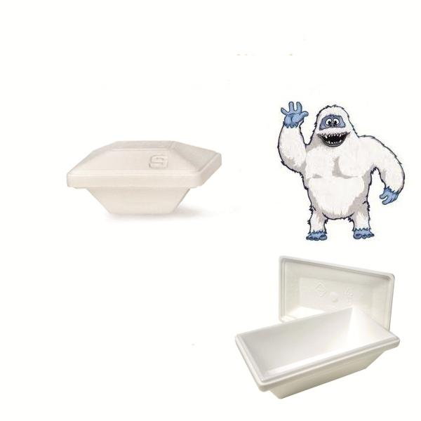 "Iso Eis Styropor Behälter 350ml - Yeti - Größe ""S"" - 50 Stück"