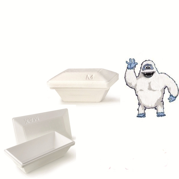 "Iso Eis Styropor Behälter 500ml - Yeti - Größe ""M"" - 50 Stück"