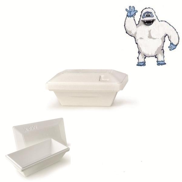 "Iso Eis Styropor Behälter  750ml - Yeti - Größe ""L"" - 50 Stück"