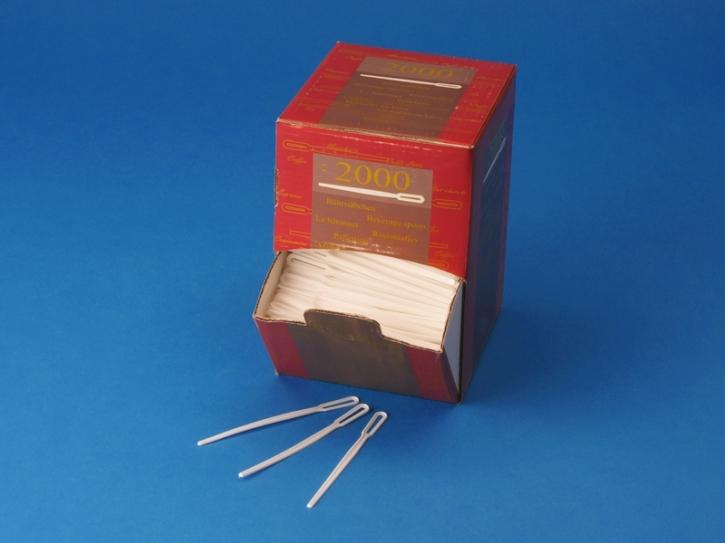 Rührstäbchen Spenderbox weiß - 2000 Stück