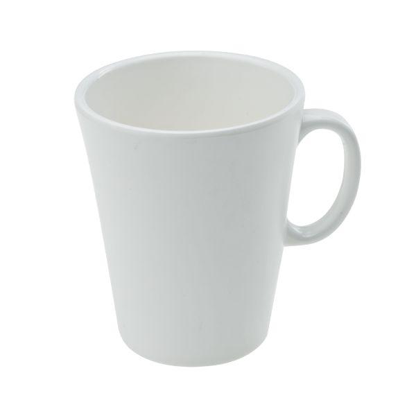 Mehrweg Kaffeetasse Melamin Groß - weiß - H=10cm