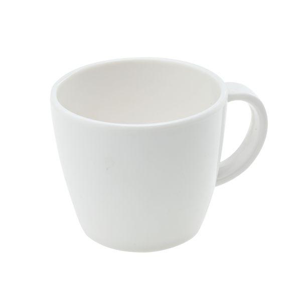 Mehrweg Kaffeetasse Melamin klein - weiß - H=7,5cm