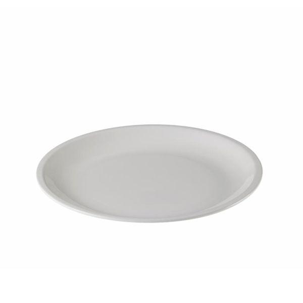 Mehrweg Teller Melamin rund - weiß - Ø=20cm x 2cm
