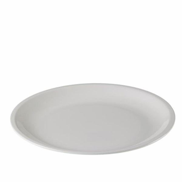 Mehrweg Teller Melamin rund - weiß - Ø=23cm x 2cm