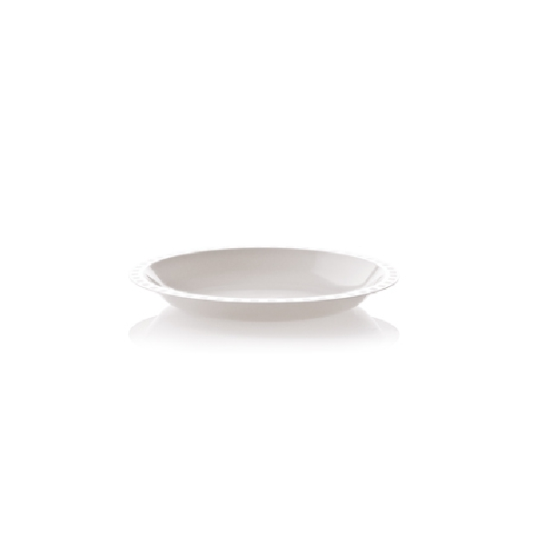 Mehrweg Suppen Teller PP Tief - weiß 19cm - 50 Stück