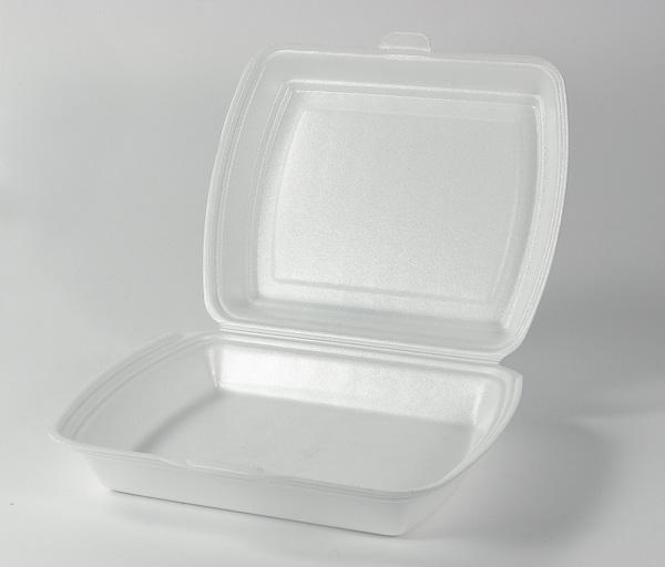 Menüboxen, Imbissboxen, Menüschalen EPS weiß laminiert HP4 ungeteilt - 250 Stück