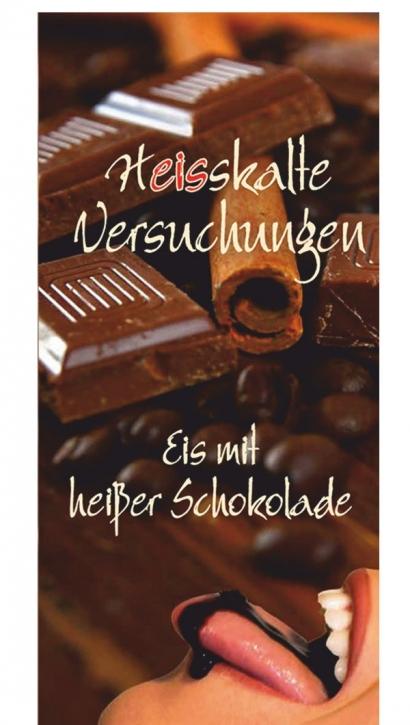 Menükarten Eiskarten Schoko Eisbecher - 10 Stück