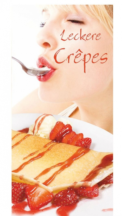 Menükarten Speisekarten für Crepes - 10 Stück