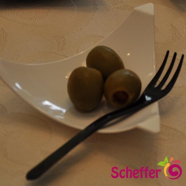 Fingerfood Mini Gabel schwarz- 10cm - 200 Stück